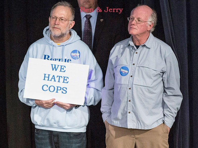 ben and jerry hate cops
