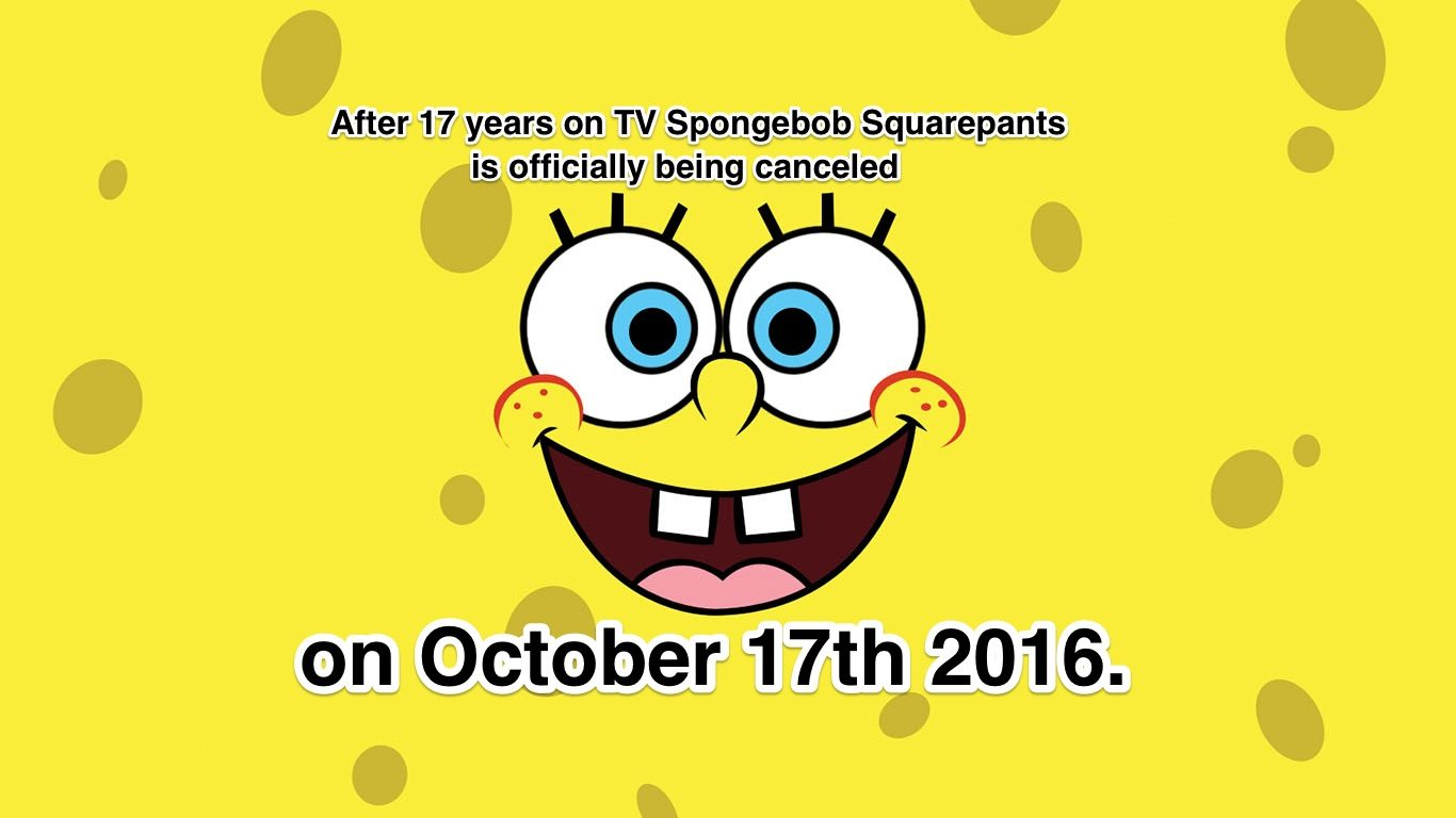 Fact check has spongebob squarepants been cancelled in october 2016 an image began circulating on social media asserting that the popular nickelodeon cable channels animated television program spongebob voltagebd Choice Image