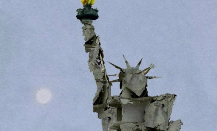 Fact Check Statue Of Liberty Made From Aleppo Rubble