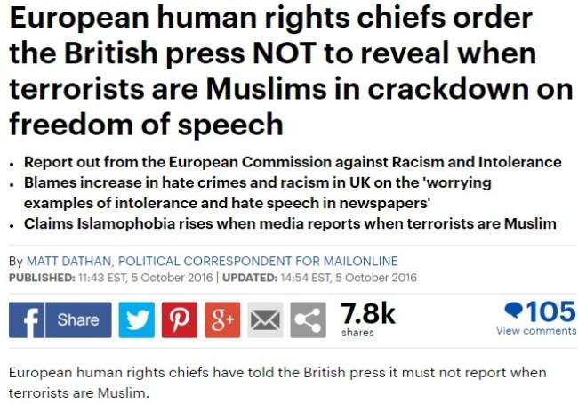 Fact check european union gag order on revealing muslim terrorists dailymail1 altavistaventures Choice Image