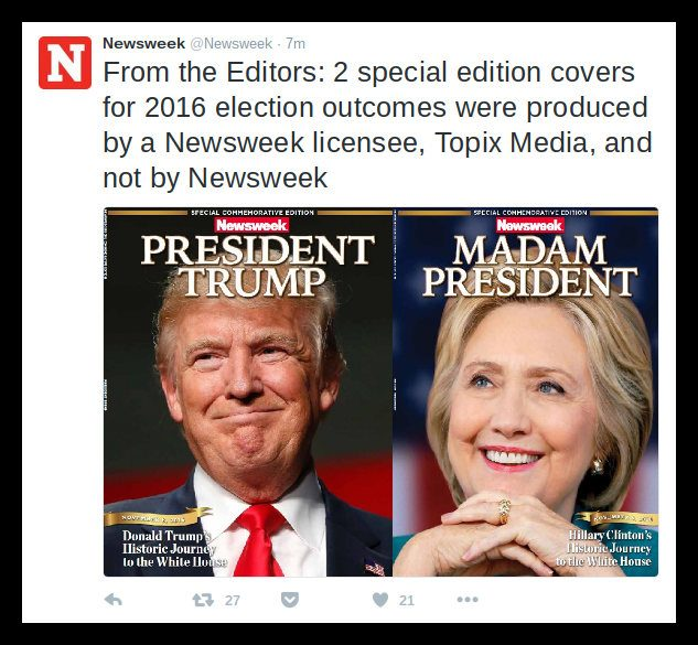 pdf newsweek with hilary clinton cover