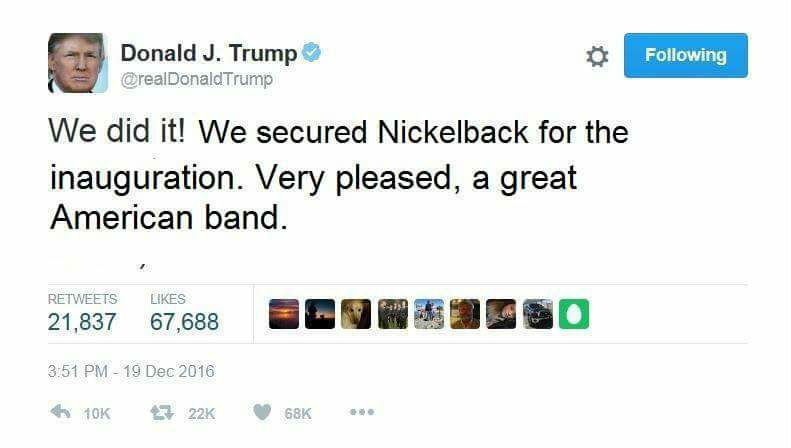 nickelback trump