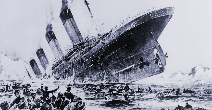 why did the titanic sank You may already know that the titanic hit an iceberg at 11:40 pm on the night of  april 14, 1912, and that it sank two hours and forty minutes later did you know.