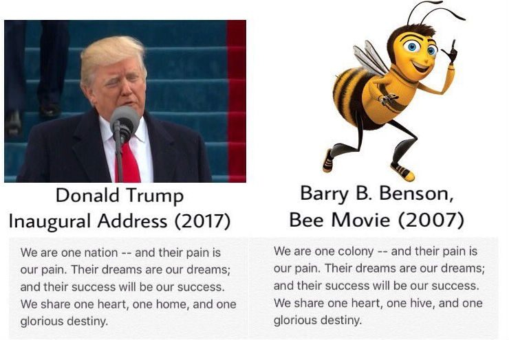 trump bee movie