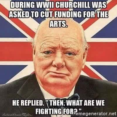 winston churchill arts