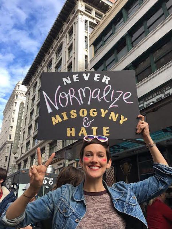 womens march sign