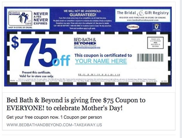 bed bath and beyond coupon code fact check 75 bed bath amp beyond 13146