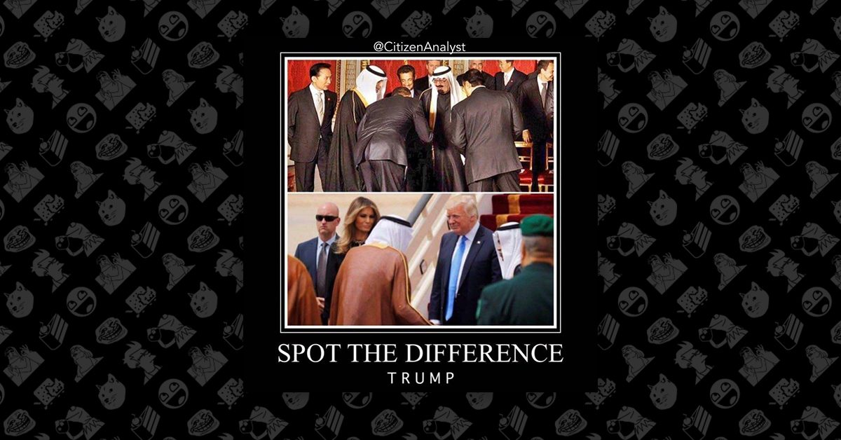 presidents_bowing_feature?resize=865452 who bowed? memes compare trump and obama during saudi arabia visits