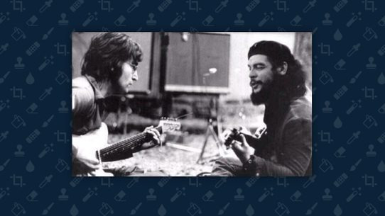 A Photograph Purportedly Showing The English Musician And Argentinian Cuban Revolutionary Playing Music Together Was Digitally Altered