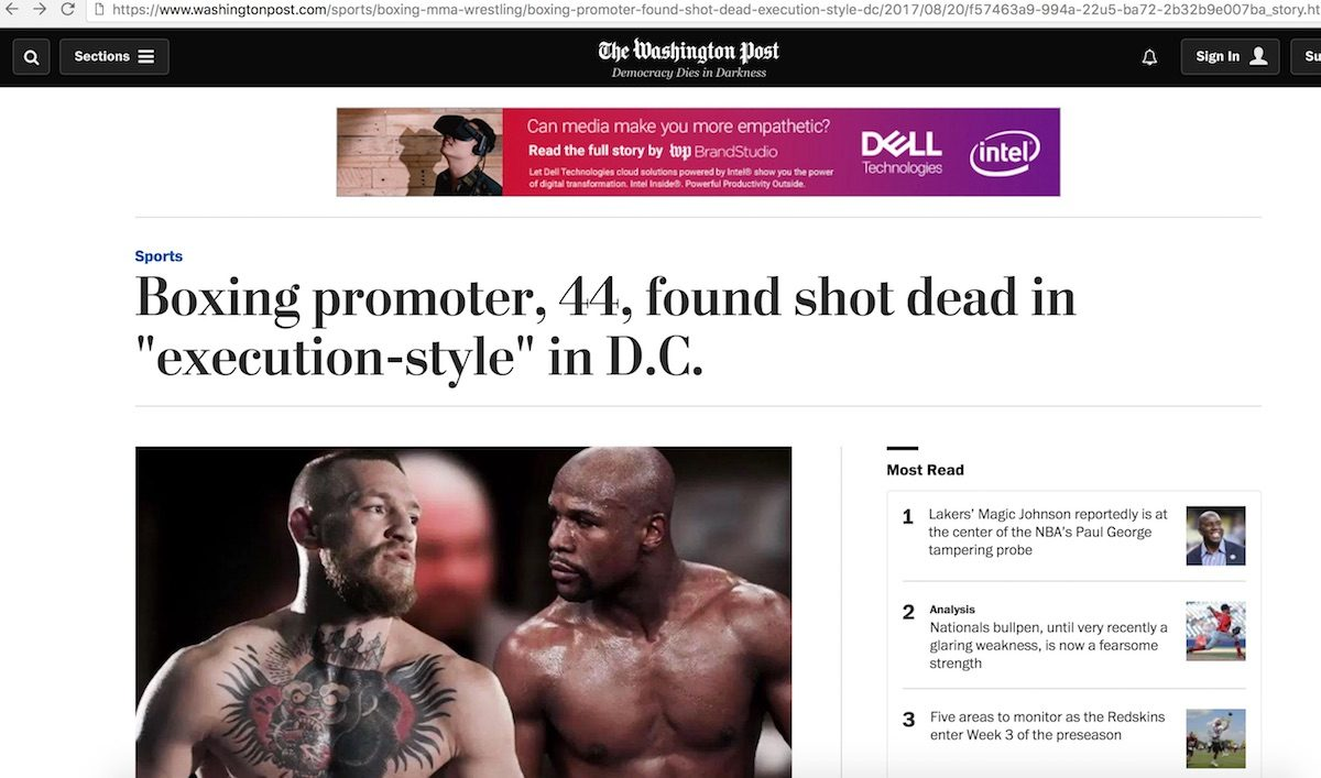 ... Bench Press Death Fact Check Promoter Found Dead After Exposing  Mayweather Mcgregor ...