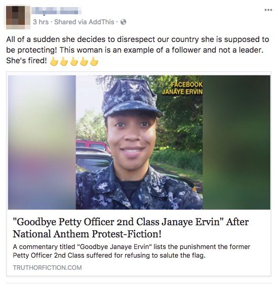 Fact Check Was A Navy Reservist Discharged For Protesting The