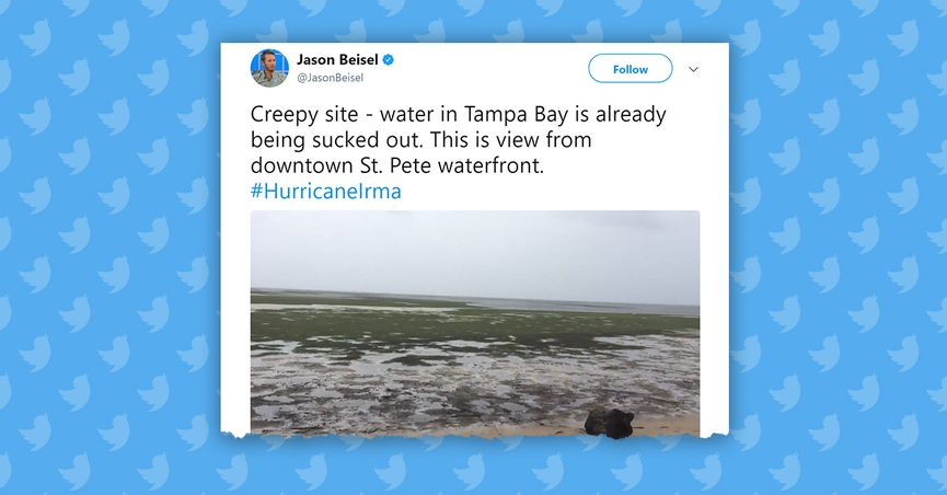 FACT CHECK Did Hurricane Irma Draw The Water Away From Beaches In - Tampa to bahamas