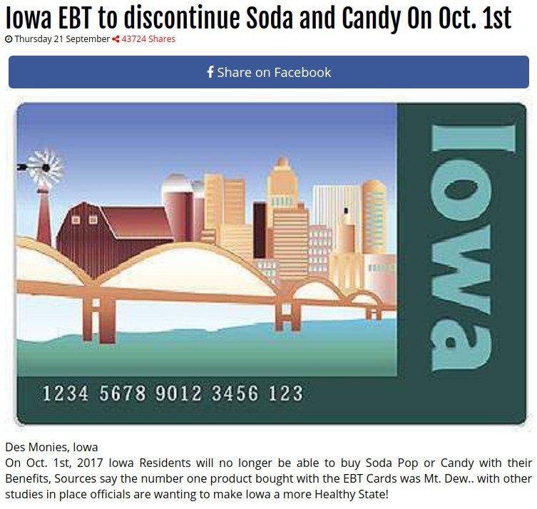Fact check iowa to discontinue soda and candy for ebt recipients des monies iowa ccuart Images