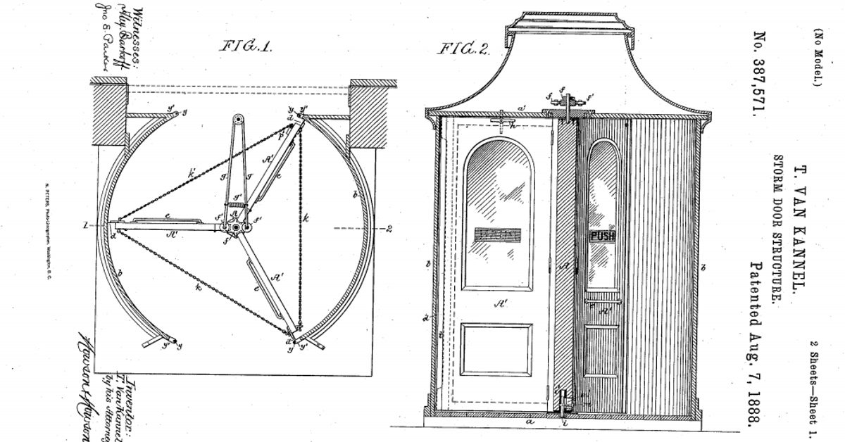 There is no evidence that Theophilus Van Kannel was motivated by a hatred for chivalry -- and quite a bit of evidence to the contrary.  sc 1 st  Snopes.com & FACT CHECK: Was the Revolving Door Invented by a Man Who Disliked ...