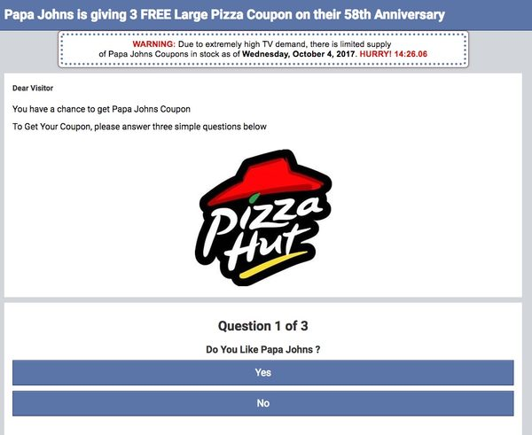 pizza hut 58th anniversary pizzas