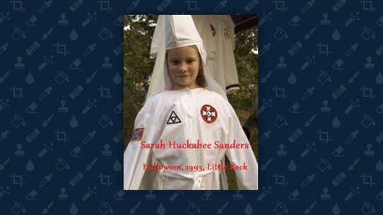 a little girl seen displaying ku klux klan robes in a photograph is not white house press secretary sarah huckabee sanders