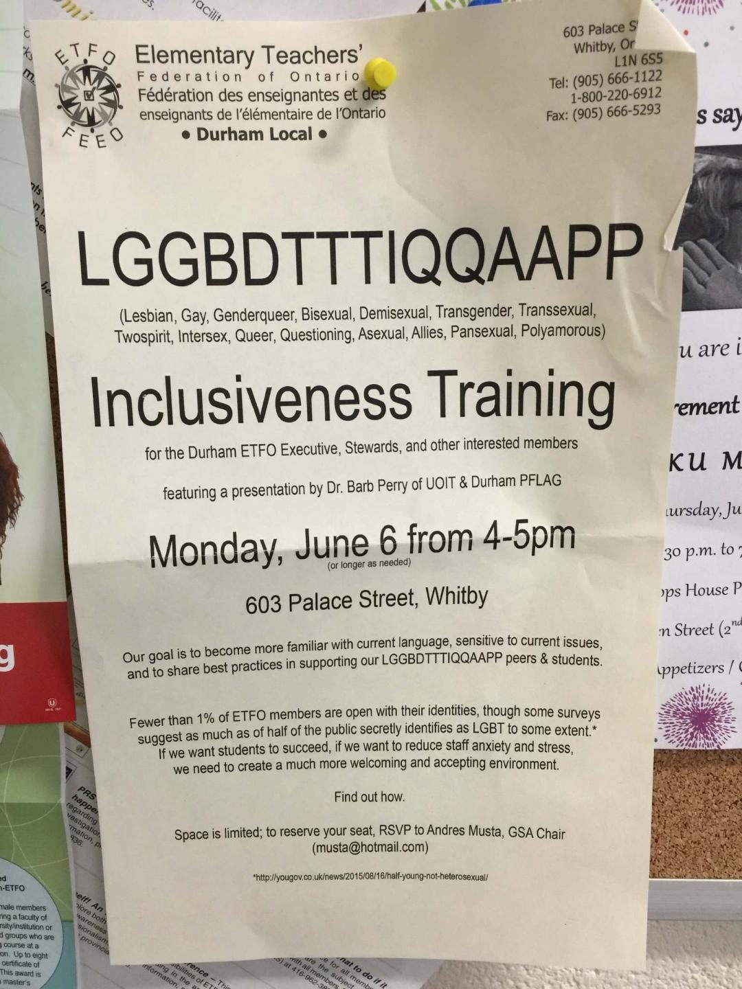 Is This Lggbdtttiqqaapp Inclusiveness Training Session Flyer Real