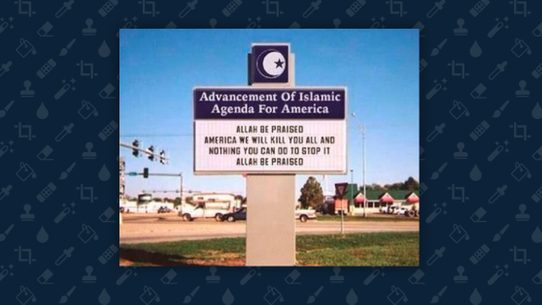 fact check advancement of islamic agenda for america sign