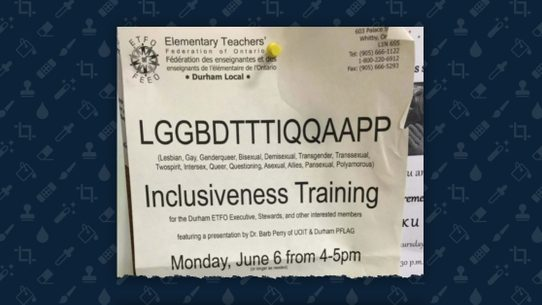 Is this lggbdtttiqqaapp inclusiveness training session flyer real a flyer at a canadian school used the lengthy acronym facetiously to appeal to teachers who feel overwhelmed by the evolving language used to describe lgbtq colourmoves
