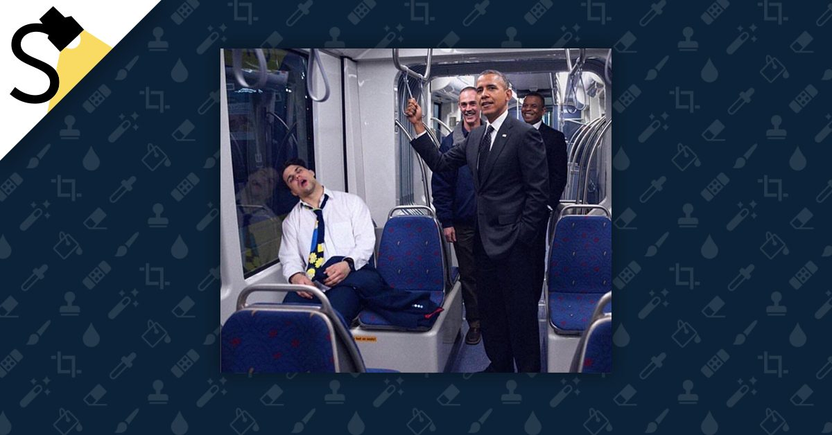 FACT CHECK: Did Obama Ride the Subway Next to an Open-Mouthed Sleeping Man?