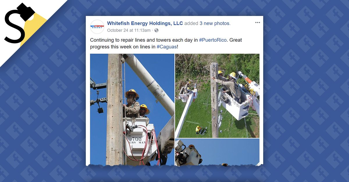 Puerto Rican Contract With Whitefish Energy Still Under Scrutiny
