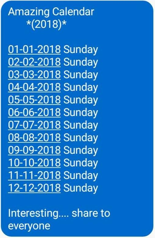 Like Many Popular Internet Circulated Items About Calendar Quirks This One Is Not Only Inaccurate But Its Egregiously So It Easily Debunked With No