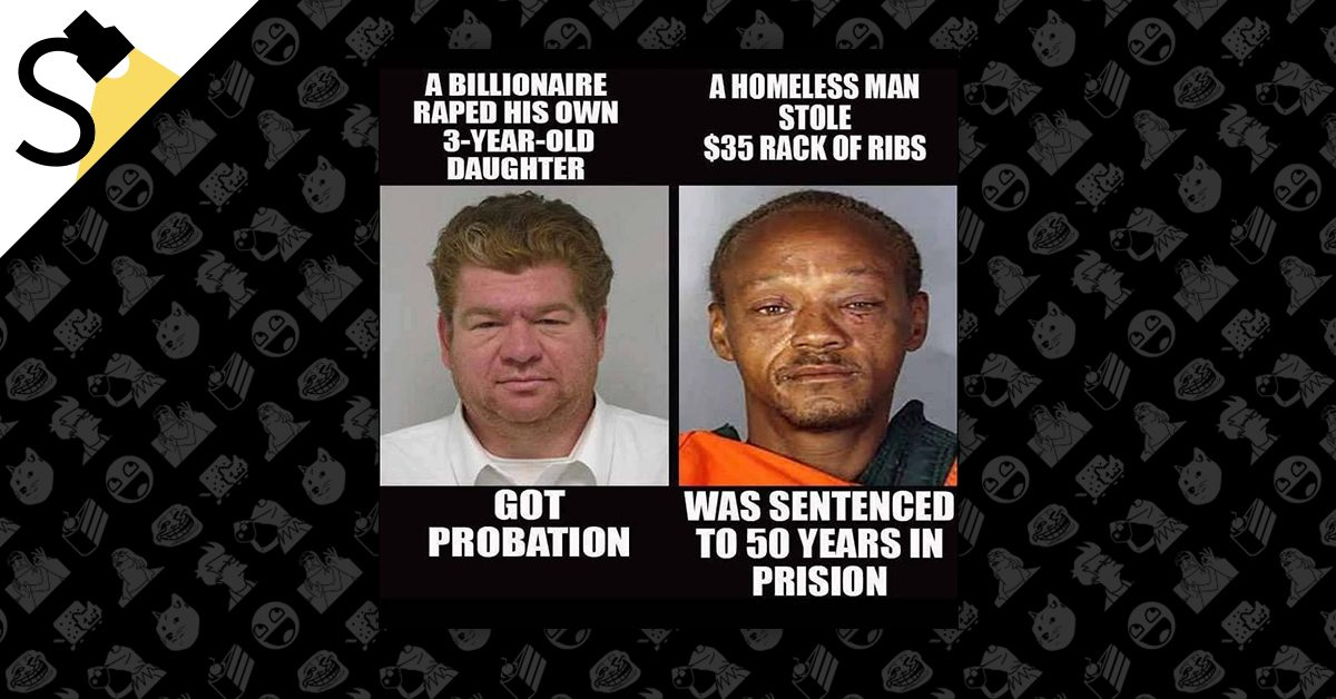 FACT CHECK: Probation for Child Rape, 50 Years in Prison for Stealing a Rack of Ribs?
