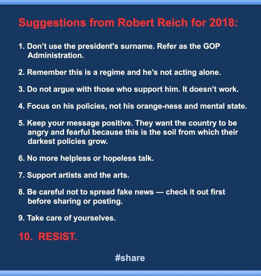 FACT CHECK: Robert Reich's Rules for 2018?