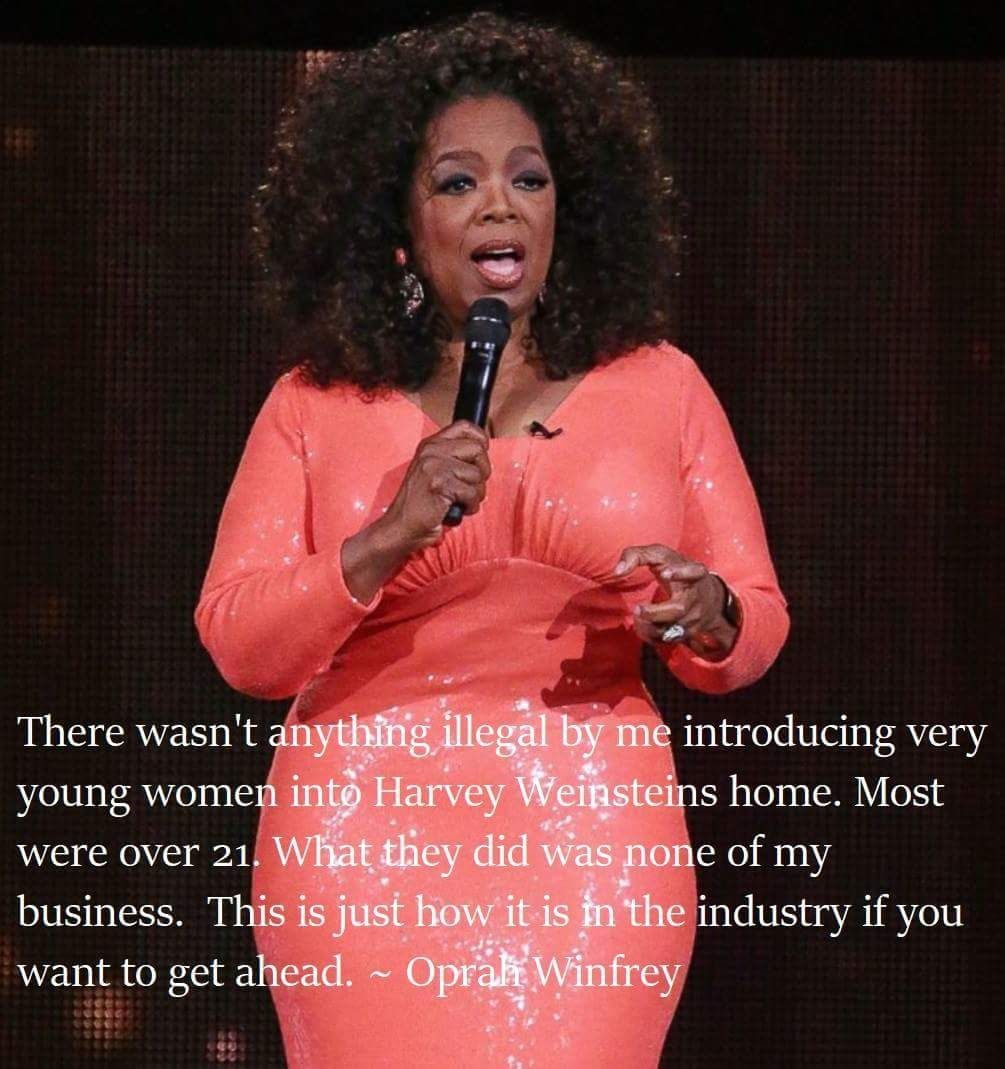 Don't run, Oprah. Teach!