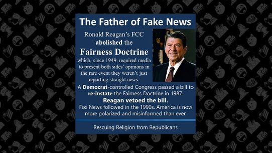 fact check did ronald reagan pave the way for fox news by repealing