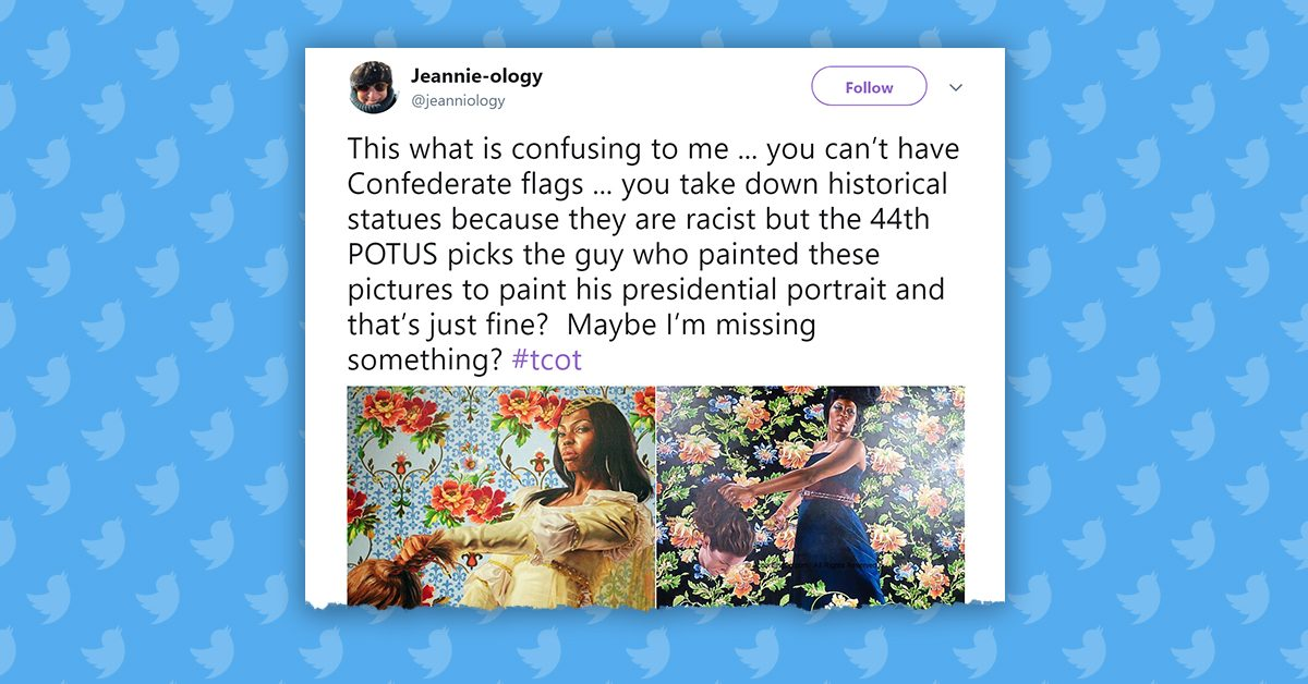 FACT CHECK: Did Obama's Portraitist Paint an Image of a Black Woman Holding the Severed Head of a White Person?