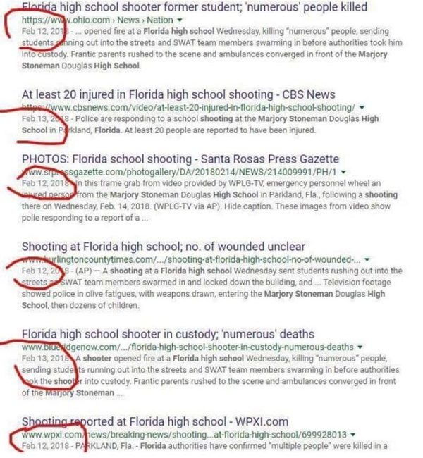 FACT CHECK: Were News Stories About The Florida Mass