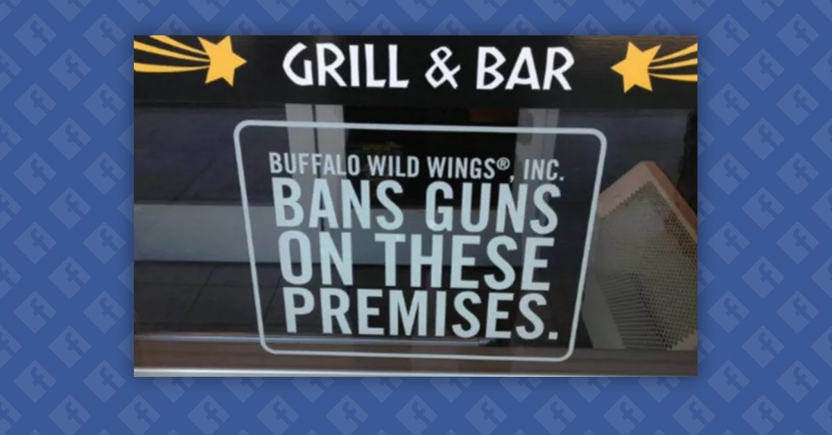 fact check did buffalo wild wings ban guns and refuse service to armed police. Black Bedroom Furniture Sets. Home Design Ideas
