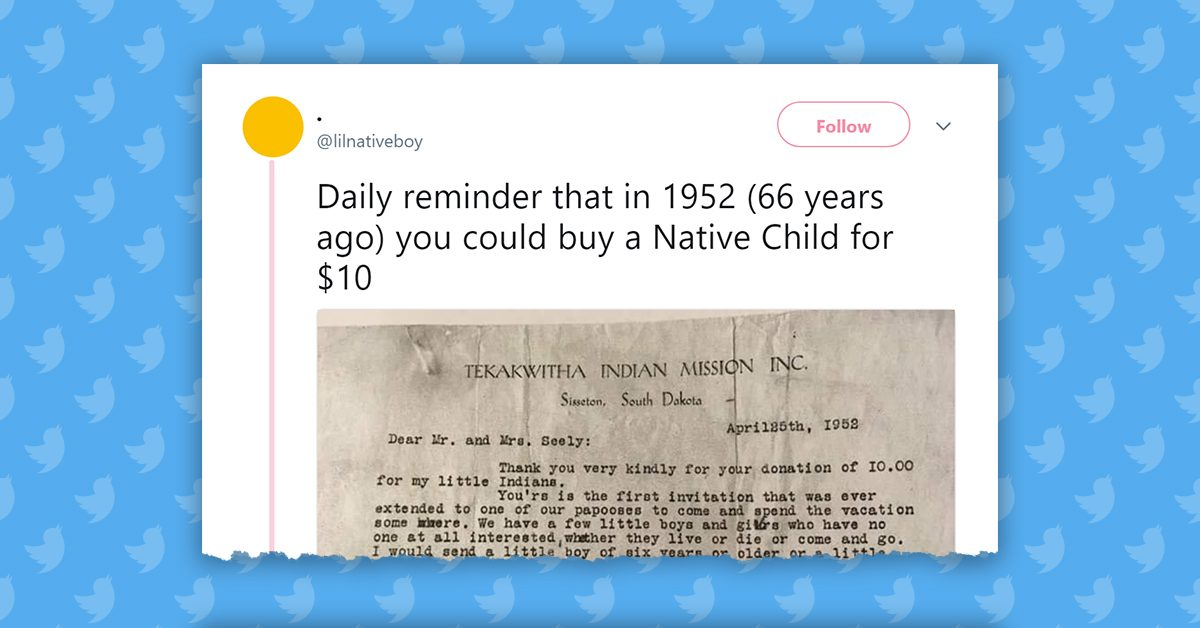 Did a Couple Adopt a Native American Child for $10 in 1952? | Snopes.com