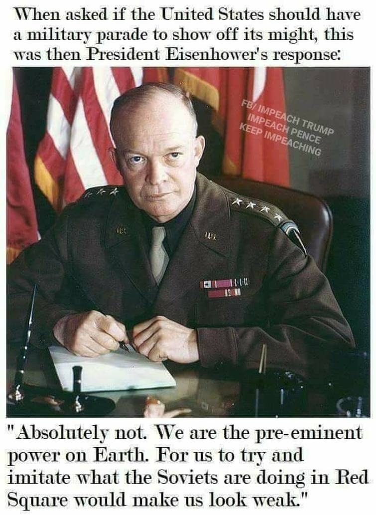 Image result for EISENHOWER MILITARY PARADE MEME