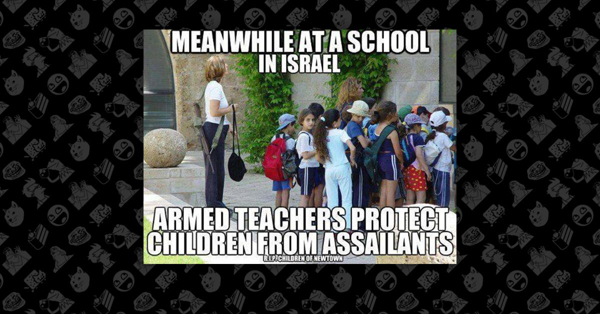 FACT CHECK: Is This an Armed Teacher Protecting Students at an Israeli School?