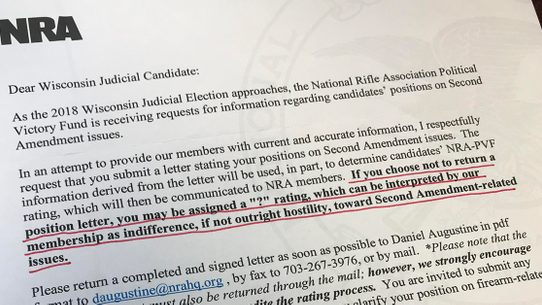 Fact check did the nra ask judicial candidates for position the national rifle associations letters to wisconsin judicial candidates came under scrutiny in the wake of a mass school shooting in february 2018 expocarfo Images