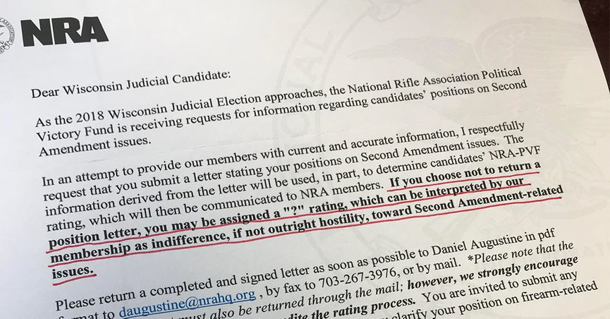 Fact check did the nra ask judicial candidates for position the national rifle associations letters to wisconsin judicial candidates came under scrutiny in the wake of a mass school shooting in february 2018 spiritdancerdesigns Gallery