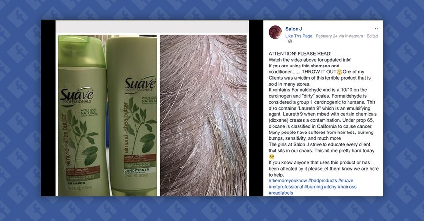 FACT CHECK: Does Suave Shampoo Contain an Ingredient That ...