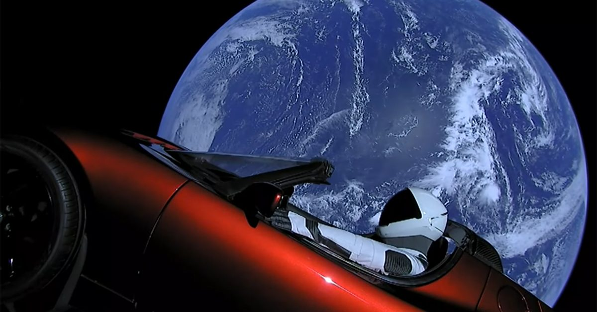 Elon Musk posts photo of vehicle  in space