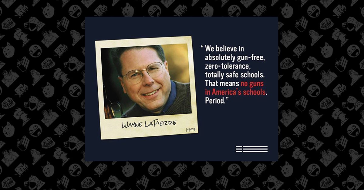 FACT CHECK: Did Wayne LaPierre Say There Should Be 'No Guns in Schools, Period'?