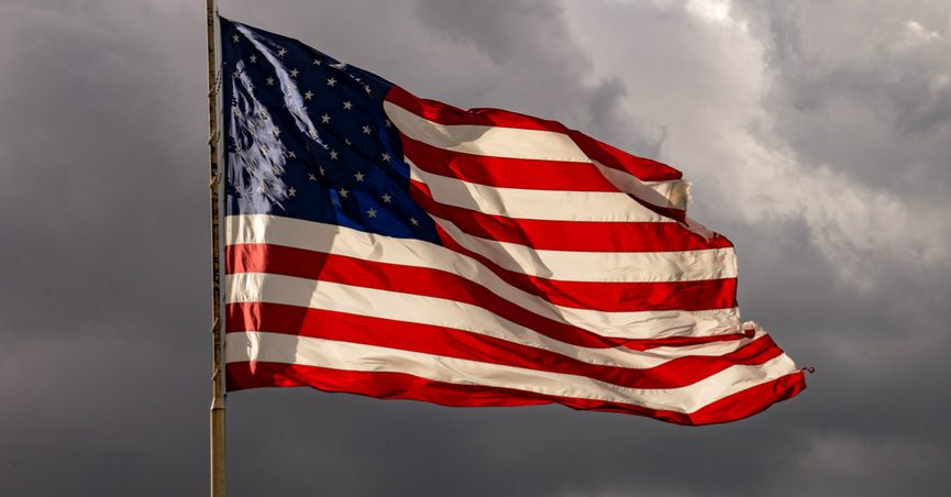 A Pic Of The American Flag Wallpaper Sportstle