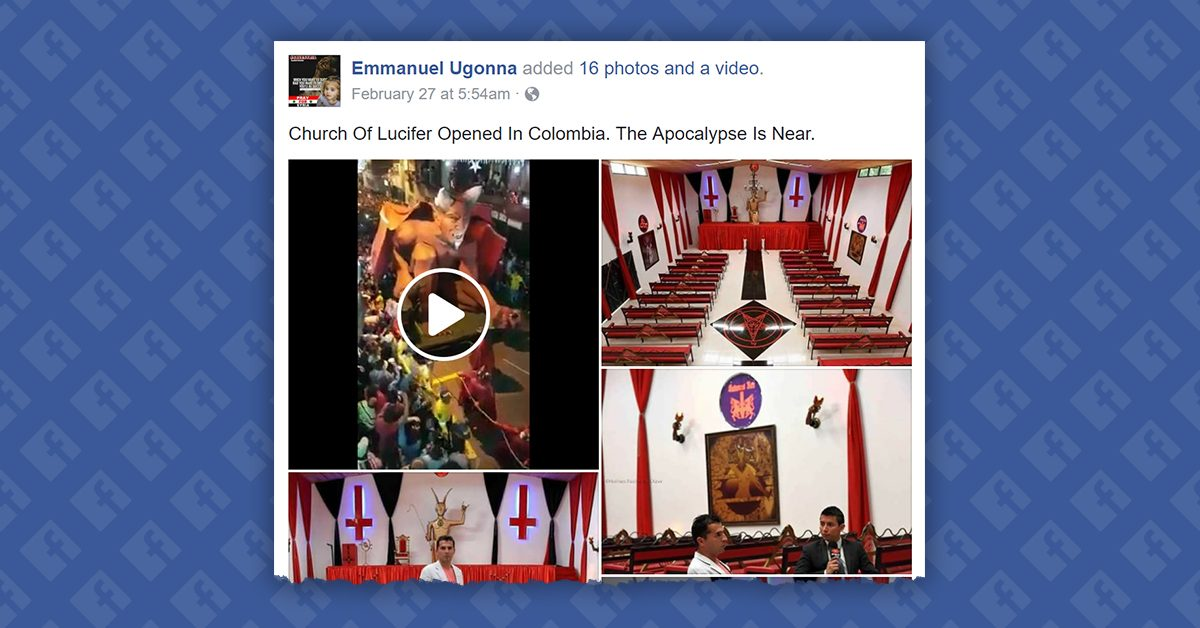 Fact Check Did A Church Of Lucifer Open In Colombia