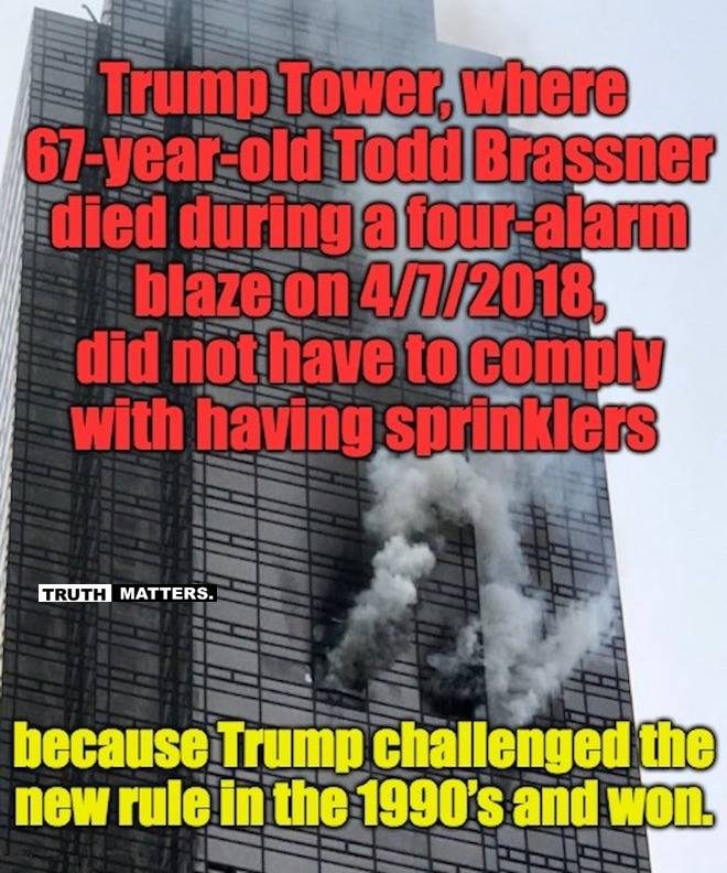 1 dead, 6 injured in fire at Trump Tower