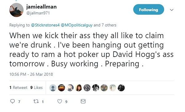 Sinclair Pundit Loses Gig After Tweet About Sexually Assaulting David Hogg