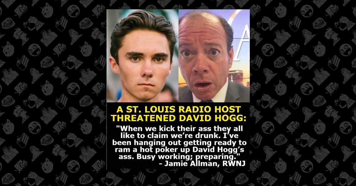 TV show host loses job after threatening to sexually assault David Hogg