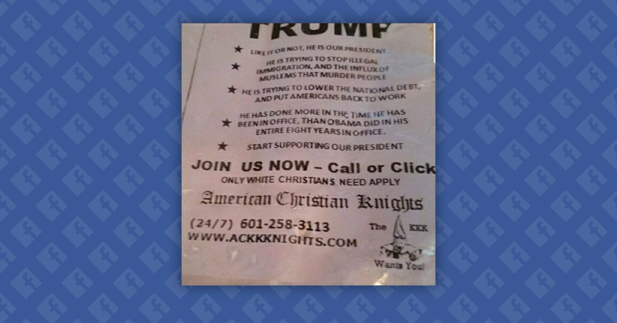 Fact Check Does A Newspaper Ad For The Ku Klux Klan Praise Donald