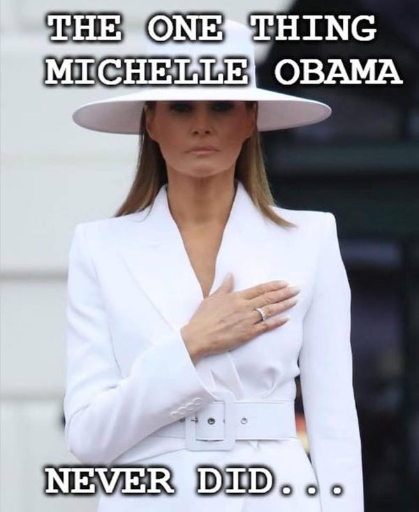 FACT CHECK: Michelle Obama Never Placed Her Hand Over Her ...