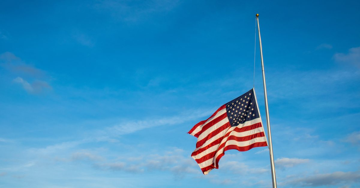 Flags at half staff for whitney houston