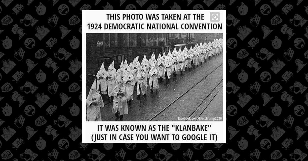 FACT CHECK: Did the Ku Klux Klan March at the 1924 Democratic National Convention?